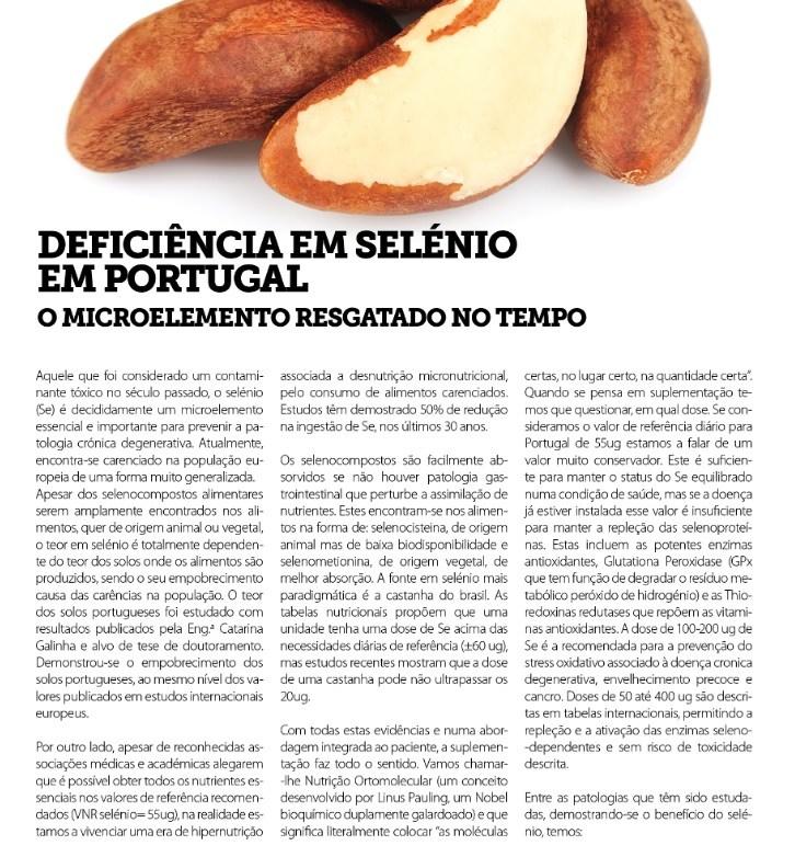 Deficiência em selénio em Portugal